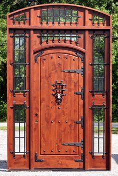 Exterior doors for sale in chicago Mahogany Doors , Wood Doors Rustic Patio Doors, Rustic Entry, Rustic Exterior, Arched Doors, Entry Doors, Exterior Doors For Sale, Craftsman Door, Door Picture, Interior Barn Doors