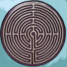 The labyrinth is an ancient Christian symbol of Christ's leading us towards the goal or vision he has placed in our hearts. At times, we appear to get close, only to be led away again; at times, following means being obedient even when it doesn't appear to make sense. Unlike a maze, there are no dead ends – the path leads to its goal, though the route is indirect.