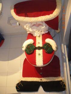 Juegos de Baño: Juegos de baño Navideños Christmas Decorations, Holiday Decor, Elf On The Shelf, Ideas Para, Repurposed, Ronald Mcdonald, Santa, Sewing, Crafts