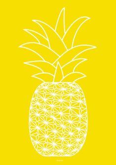Ananas yellow Art Print