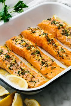 Baked Salmon Recipes, Fish Recipes, Seafood Recipes, Seafood Meals, Seafood Dishes, Healthy Cooking, Cooking Recipes, Healthy Recipes, Eating Healthy