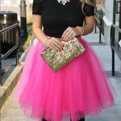 Hot Pink Tulle Skirt ❤️ HOT TREND! Go Sex in The City style with this Gorgeous Hot Pink Tulle Skirt! Women Princess Fairy Style 5 Layered Tulle Dress Bouffant Skirt!  Ships out a week after purchase ! ❤️❤️AVAILABLE IN ALL SIZES ❤️❤️ Skirts