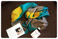 July 2014 Fair Treasure Box: World Finds Color Block Scarf. How gorgeous is this woven cotton scarf?! This piece is handmade by women artisans in Agra, India who receive a living wage and operate in safe working conditions. Price: USD $18.00 -- #beauty #fairtreasure #home #subscriptionbox #accessories #lifestyle #fairtrade #jewelry