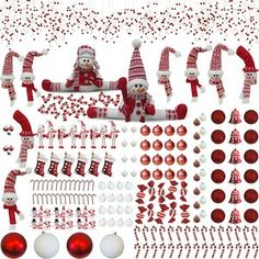 The Holiday Aisle® Snowy Avalanche 7.5 Green Spruce Artificial Christmas Tree with 600 Clear Lights & Reviews   Wayfair Outdoor Candy Cane Decorations, Christmas Candy Cane Decorations, Candy Cane Crafts, Candy Cane Christmas Tree, Candy Cane Ornament, Christmas Ornament Sets, Christmas Store, Christmas Holidays, Holiday Decor
