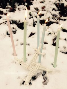 Gentle shades, light and a Brigid's Cross for Imbolc. Wicca Witchcraft, Magick, Wiccan Sabbats, Wiccan Witch, Fire Festival, Festival Lights, Yule, St Brigid Cross, Brigid's Cross
