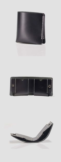 36 Stunning Wallet Designs Ideas For Men - Trendfashionist Handmade Leather Wallet, Leather Gifts, Leather Men, Black Leather, Leather Accessories, Wallets For Women, Leather Wallets, Billfold Wallet, Black Friday