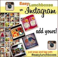 INSTAGRAM your lunches! Share all your EasyLunchbox creations via Instagram. It's super easy! Just tag your pic w/#easylunchboxes in the caption field and we can all see them :)
