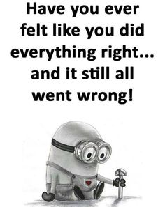 have you ever felt like you dd everything right....and it still all went wrong!