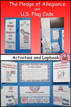 Pledge of Allegiance and U.S. Flag Code Activities and Lapbook
