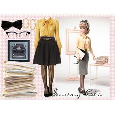 Secretary Barbie-inspired outfit