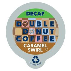 Double Donut Coffee Decaf Caramel Swirl Flavored Coffee Single Serve Cups For Keurig K Cup Brewer (24 Count) * A special product just for you. See it now! : K Cups