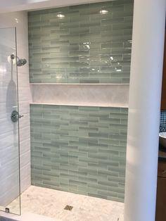Shower storage alcove