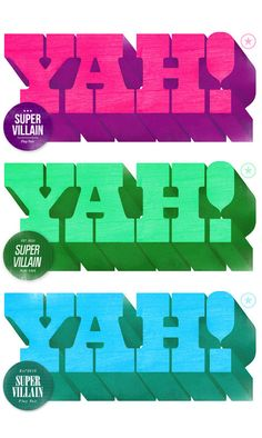 Typography / Super Villain, by André Beato