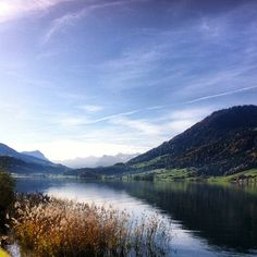 Aegerisee in Autumn Switzerland, Cycling, Autumn, Mountains, Places, Nature, Travel, Photo Illustration, Biking