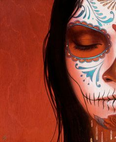 Sylvia Ji Day of the Dead style painting