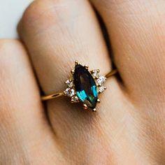 Sapphire Ring / Blue Sapphire Bezel Setting Hand Milgrain Edge Ring in Gold / Stackable Sapphire Ring / mothers day gift - Fine Jewelry Ideas Art Deco Jewelry, Jewelry Rings, Fine Jewelry, Jewelry Design, Jewlery, Jewelry Ideas, Gold Diamond Wedding Band, Diamond Bands, Halo Diamond