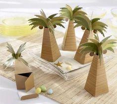 Kate Aspen Palm Tree Favor Boxes Set Of 24 #KateAspen