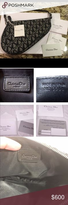 Christian Dior a black and gray Bag  Christian Dior fabulous and perfect condition, comes with all cards -authenticity cards- dust bag and original box. More details to come.... Christian Dior Bags Mini Bags