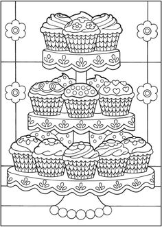 Fun cupcake coloring pages for your little one. They are free and easy to print. The collection is varied with different characters and skill levels to. Cupcake Coloring Pages, Food Coloring Pages, Printable Coloring Pages, Free Coloring, Adult Coloring Pages, Coloring Pages For Kids, Coloring Sheets, Coloring Books, Dover Coloring Pages