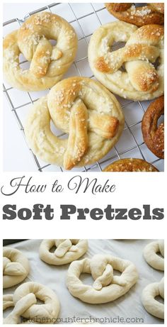 How to make soft pretzels in the kitchen with your kids. Cooking with kids is a fun activity to do together and these yummy pretzels are simple to make together.