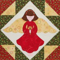 Christmas Angel Quilt Block