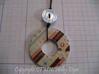 The Inky Scrapper: Washer Pendant Tutorial I like the idea of the button, especially the 4-hole one