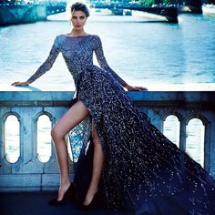 Haute Couture Zuhair Murad Dress High End Fashion Stunning Dresses, Beautiful Gowns, Pretty Dresses, Gorgeous Dress, Maxi Dress With Sleeves, Dress Up, Tulle Dress, Slit Skirt, Haute Couture Fashion