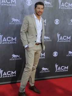 Brett Eldredge attends the 49th annual Academy of Country Music Awards at the MGM Grand Garden Arena in Las Vegas Sunday, April 6, 2014.