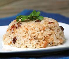 Coconut Rice with Raisins (Arroz con Coco) Recipe
