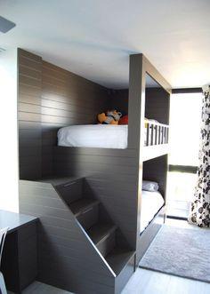 34 Charming Kids Bedroom Design Ideas For Dream Homes Kids Bedroom Ideas Bedroom charming design Dream Homes Ideas Kids Bunk Beds For Boys Room, Bunk Bed Rooms, Bed For Girls Room, Bunk Beds Built In, Cool Bunk Beds, Bedroom Loft, Home Bedroom, Bedroom Decor, Custom Bunk Beds