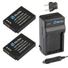 EforTek EN-EL12 Replacement Battery (2-Pack) and Charger Kit for Nikon EN-EL12 and Nikon Coolpix AW100 AW100s AW110 AW110s P300 P310 P330 S31 S70 S610 S620 S630 S640 S800c S1000pj S1100pj S1200pj S6000 S6100 S6150 S6200 S6300 S8000 S8100 S8200 S9050 S9100 S9200 S9300 S9400 S9500
