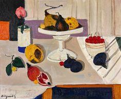 Georges Borgeaud - Les Poires, 1980 - Huile sur toile, 60 x 73 cm Online Katalog, Nature, Painting, Art, Oil On Canvas, Pears, Auction, Art Background, Naturaleza