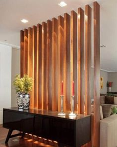 Home Interior Warm Incredible Room Divider Design has never been so Trending! Since the beginning of the year many girls were looking for our Great guide and it is finally got released. Now It Is Time To Take Action! Living Room Partition Design, Room Partition Designs, Partition Walls, Wooden Partition Design, Easy Home Decor, Home Decor Trends, Cheap Home Decor, Home Living Room, Living Room Designs