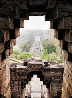 The view across the countryside from within the ninth-century Borobudur temple complex—a UNESCO World Heritage Site. Photograph by Chris Court Indonesia Travel Honeymoon Backpack Backpacking Vacation Travel Photography Tumblr, Photography Beach, Portrait Photography, Wedding Photography, Nepal, Places Around The World, Around The Worlds, Beautiful World, Beautiful Places