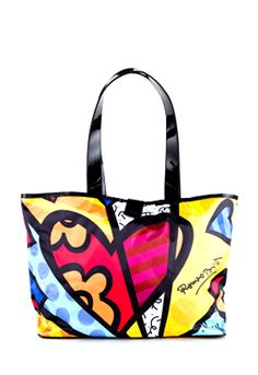 Love Romero Britto bag.  And it's surprisingly not THAT expensive.  Got to have it.