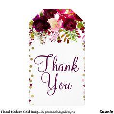 85fb83f1b319 Marsala Pink Floral Gold Burgundy Bridal Shower Gift Tags