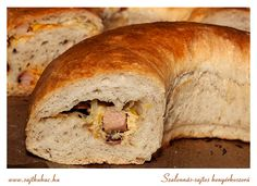 szalonnás-sajtos-póréhagymás kenyérkoszorú Bread, Food, Brot, Essen, Baking, Meals, Breads, Buns, Yemek