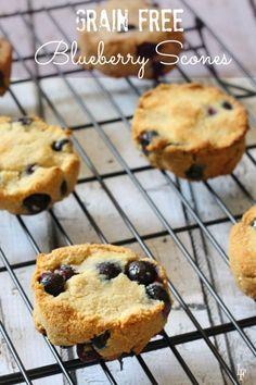 Grain Free Paleo Blueberry Scone Recipe the entire family will love! Awesome Freezable recipe!