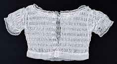 antique ruched net/tulle baby's chemisette ... ca. 1850-60