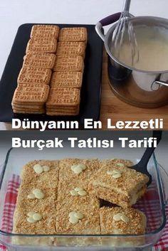 Snack Recipes, Dessert Recipes, Cooking Recipes, Snacks, Pasta Cake, Good Food, Yummy Food, Turkish Recipes, Food Presentation