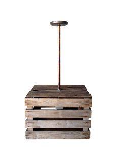 Orleans Apple Crate Light   Chairish