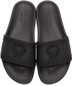 ffcb685e727 Versace - Black Medusa Slide Mens Slip On Sandals