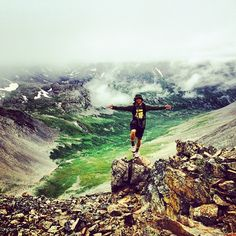 Explorer @pwall_9 on his first of three 14ers on his way to Mt. Democrat. #NeverStopExploring