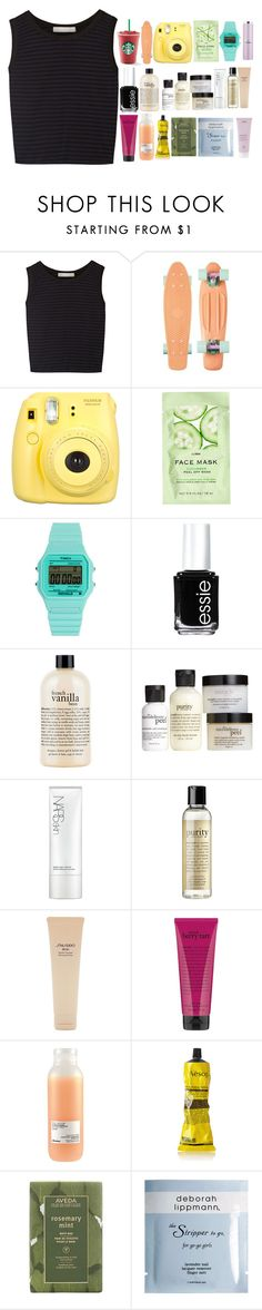 """""""Rainbow"""" by california-girl38 ❤ liked on Polyvore featuring Kain, H&M, Timex 80, Essie, philosophy, NARS Cosmetics, Shiseido, Davines, Aesop and Aveda"""