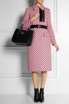 Someone please make a plus size version of this!  Miu Miu - Polka-dot jacquard coat - NET-A-PORTER.COM