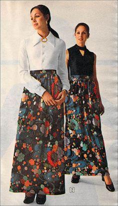 Maxi skirts, 1972.