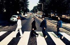 The Beatles walking back across Abbey Road... (rare pic)