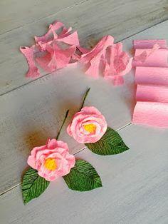 Paper Dahlias David Austin Roses | Paper Flowers Handmade Tutorials DIY