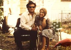 Carrie Fisher and John Belushi. Behind the scenes on Blues Brothers (1980).