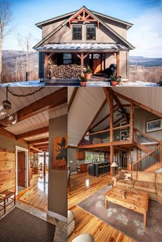 Yankee Barn Homes Custom Designs And Builds Post Beam The Moose Ridge Is A Modern Timber Frame Take On Mountain Lodge